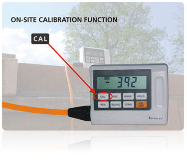 On-Site Calibration function