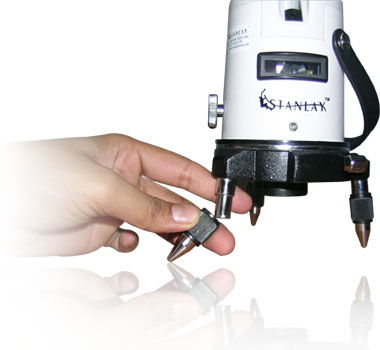 Adjustable Feet with Plumb Laser at bottom